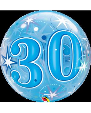 "30 Blue Starburst Sparkle 22"" (Minimo 3 unid)"