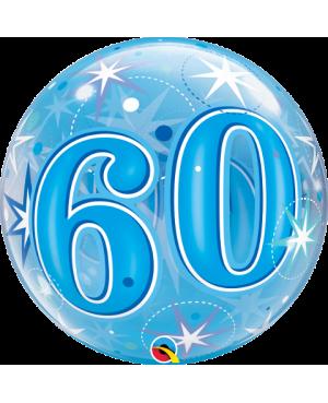 "60 Blue Starburst Sparkle 22"" (Minimo 3 unid)"
