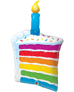 "Rainbow Cake & Candle 42"" (Minimo 3 Unid)"