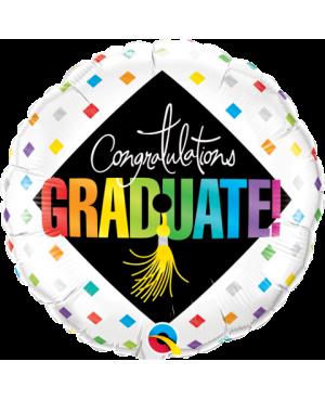 "Graduate Cap & Diamonds 18"" (Minimo 3 Unidades)"
