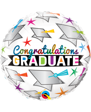 "Graduate Cap & Stars 18"" (Minimo 3unid)"