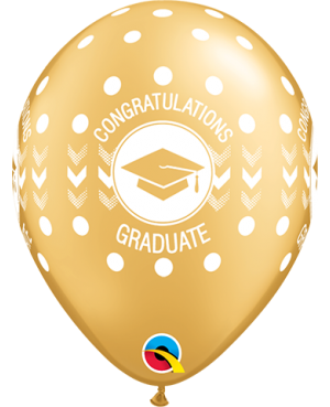 "Congratulations Graduate Dots 11"" (25ct)"