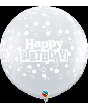 "Birthday Confetti Dots 3"" (2ct)"