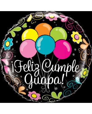 "18"" Feliz Cumple Guapa !! (Minimo 3 unid)"
