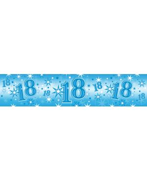 Age18 Blue Sparkle Foil Banner 2.6m (1ct) Minimo 6 Unid