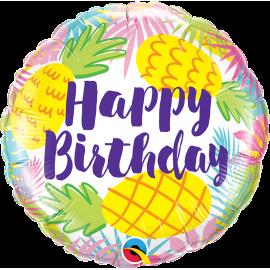 "18"" Birthday Pineapples (Minimo 3 Unid)"