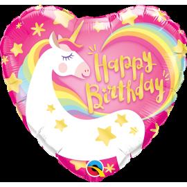 "18"" Birthday Magical Unicorm (Minimo 3 Unid)"