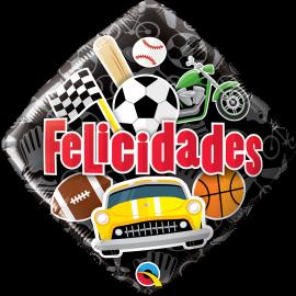 """18"""" Felicidades Deportes y Aficiones (Minimo 3 Unid)"""