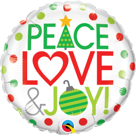 "18"" Peace Love & Joy ! (Minimo 3 Unid)"