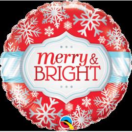 "Merry & Bright Snowflakes 18"" (Minimo 3 unid)"