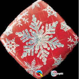 """Snowflake Sparkles Red 18"""" (Minimo 3 unid)"""
