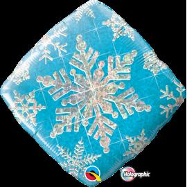 """Snowflake Sparkles Blue 18"""" (Minimo 3 unid)"""