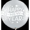 """30"""" New Year Confetti Dots (2 Unid) Silver"""