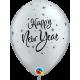 """11"""" New Year Sparkle (50unid) Onyx Black & Silver"""