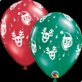 "Santa & Rudolph 11"" ( 25ct)"