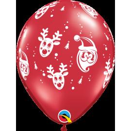 "Santa & Rudolph 11"" ( 06ct)"