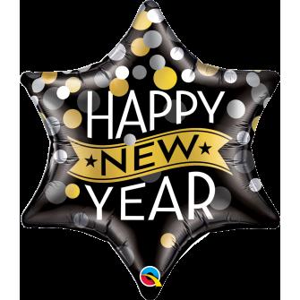 New Year Confetti Dots Black (Minimo 3 unid)