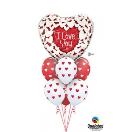 I Love You Glitter Hearts