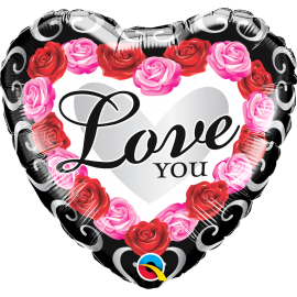 """18"""" Love You Red Rose Frame (Minimo 3 Unid)"""