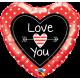 "18"" Love You Dot & Arrows (Minimo 3 Unid)"