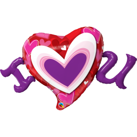 "46"" I (Heart) U Radiant Hearts (Minimo 3 unid)"
