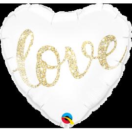 """18"""" Love Glitter Gold (Minimo 3 Unid)"""