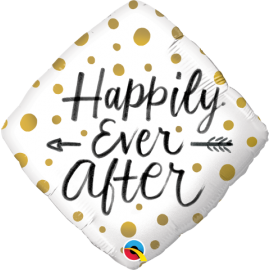 """18"""" Happily Ever After Gold Dots (Minimo 3 unid)"""