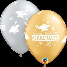 """11"""" Congratulations Graduate Caps (25 Unid)"""