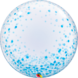 "24"" Deco Bubble -Blue Confetti Dots (Minimo 3 Unid)"