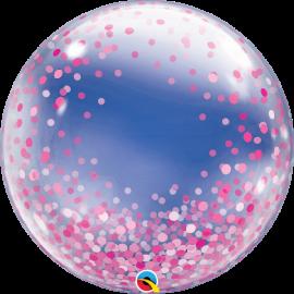 """24"""" Deco Bubble -Pink Confetti Dots (Minimo 3 Unid)"""