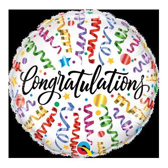 """18"""" Congratulations Streamers (Minimo 3 Unid)"""