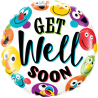 "18"" Get Well Soon Smileys (Minimo 3 Unid)"