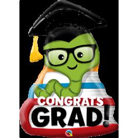 "37"" Congrats Grad Bookworm (Minimo 3 unid)"