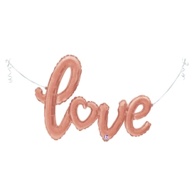 """47"""" Love Rose Gold Script (Air- Filled) (Minimo 3 Unid)"""