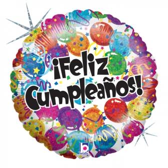 """18"""" Feliz Cumpleaños (Minimo 3 unidades)"""