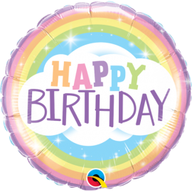 "18"" Birthday Rainbow (Minimo 3 Unid)"