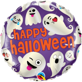 "18"" Halloween Emoticon Ghost (Minimo 3 Unid)"