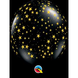 "11"" Stars-a-Round (25 unid) Onyx"