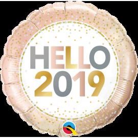 """18"""" Hello 2019 (Minimo 3 Unid)"""