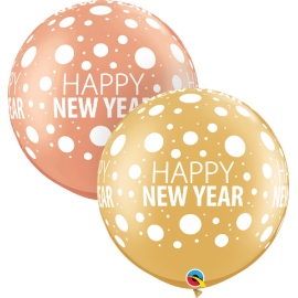 "30"" Happy New Year Dots (2ct ) surtido"