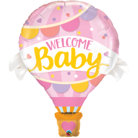 """42"""" Welcome Baby Pink Balloonn (Minimo 3 Unid)"""