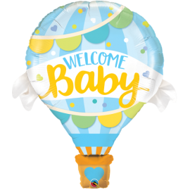 """42"""" Welcome Baby Blue Balloonn (Minimo 3 Unid)"""