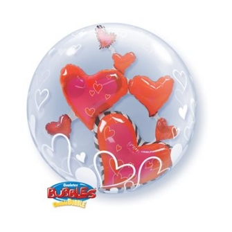 Double Bubbles Lovely Floating Hearts