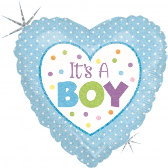 """9"""" Baby Boy Dots (Minimo 5 Unidades)"""