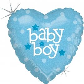 """9"""" Baby Heart Boy (Minimo 5 Unidades)"""