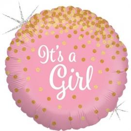 "18"" Glittering It´s a Girl (Minimo 3 unid)"
