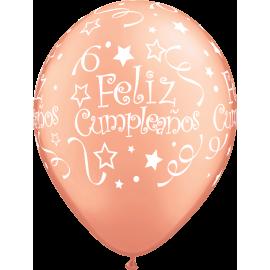 "11"" Feliz Cumpleaños (25unid) Rose Gold"