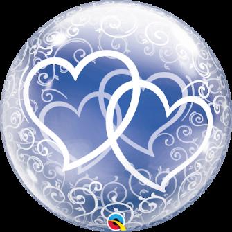 "24"" Deco Bubble- Entwined Hearts (Minimo 3 Unid)"
