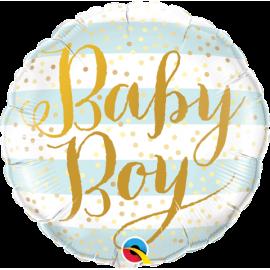 """18"""" Baby Boy Blue Stipes (Minimo 3 unid)"""