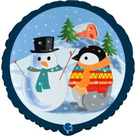 """18"""" Pinguino y Muñeco de Nieve (Minimo 3 unid)"""